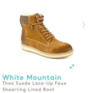 WHITE MOUNTAIN Theo Suede Faux Shearling Boot